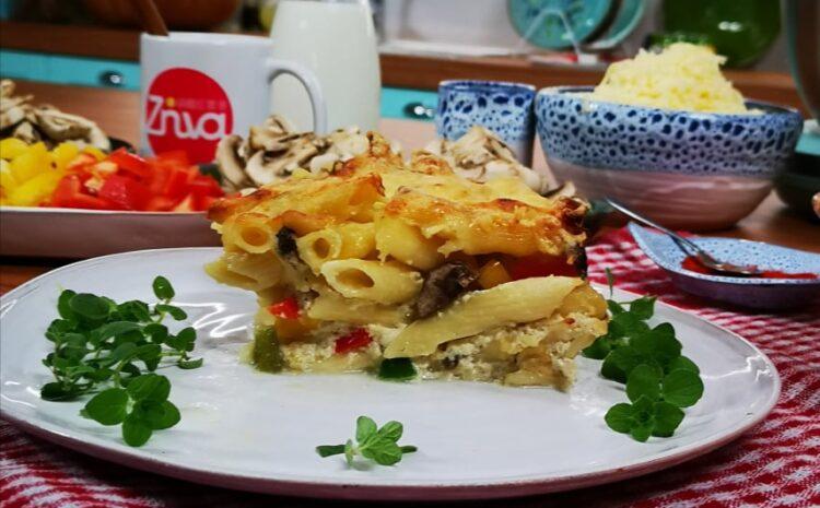 Το πιο ελαφρύ au gratin ζυμαρικών με λαχανικά από την Εύα Παρακεντάκη